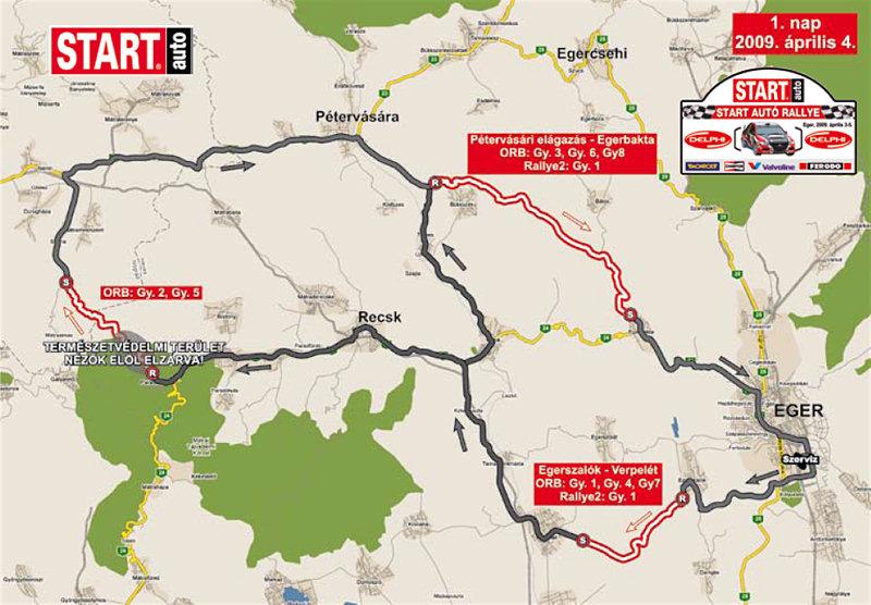 eger rally 2013 térkép Start Autó Rallye Eger útvonala térkép 2009 eger rally 2013 térkép