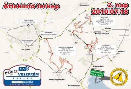 veszprém vasútállomás térkép Veszprém Rallye 2010, Országos Rallye Bajnokság